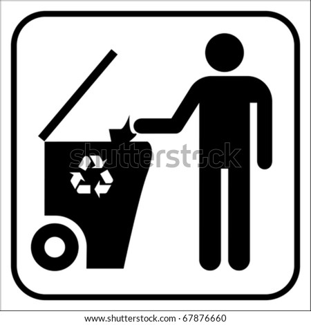 Recycling symbol, vector - stock vector