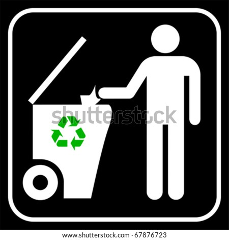 Recycling symbol, vector - stock vector