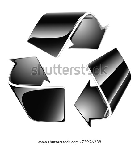 Recycling symbol - Vector - stock vector