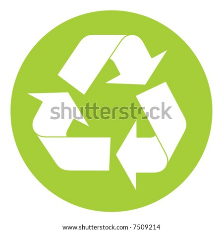 Recycling symbol. Vector illustration - stock vector