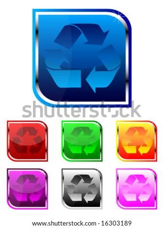 Recycling symbols - stock vector