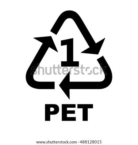 Recycling Symbols Plastic Pet Stock Vector 2018 488128015