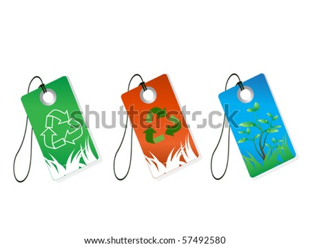 recycling tags - stock vector