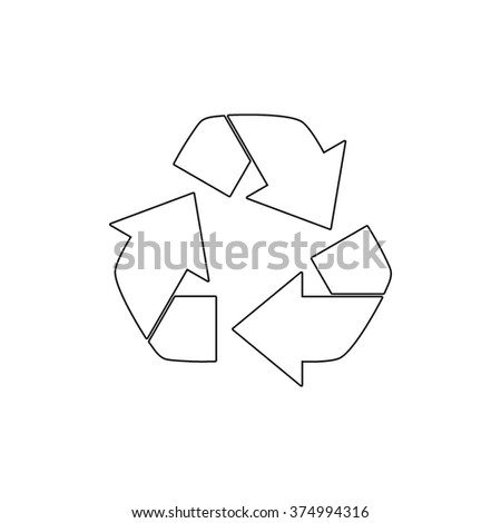 Recycling  - vector icon