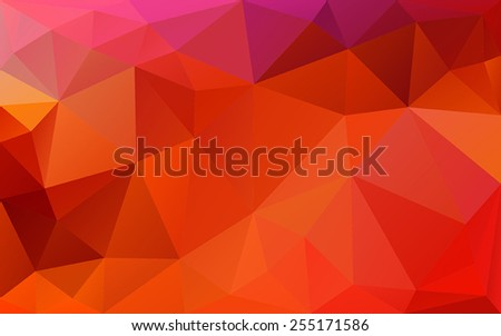 red abstract background of the triangles - stock vector