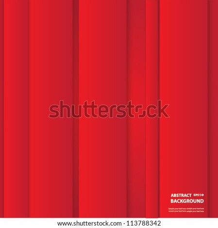 Red abstract background,Vector - stock vector