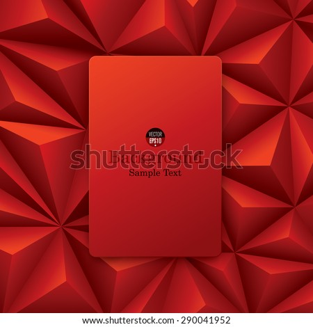 Red abstract background vector. Can be used in cover design, book design, website background, CD cover or advertising. - stock vector