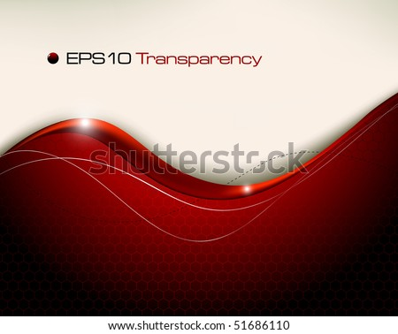 Red abstract background - vector illustration - stock vector