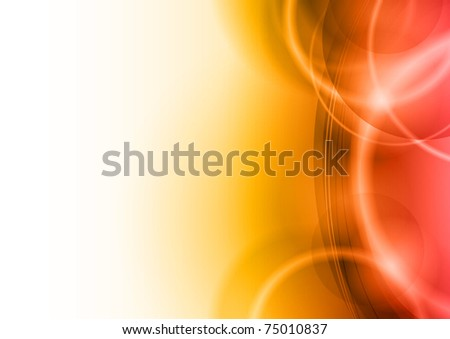 red abstract background with white space - stock vector