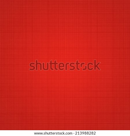 Red Abstract Canvas Background Or Textile Texture. Vector Illustration - stock vector