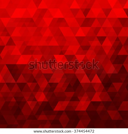 Red Abstract Geometric Triangle Background - Vector Illustration Abstract Polygon Vector Pattern - stock vector