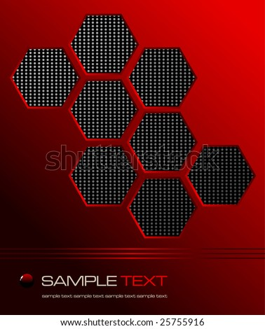 red abstract mate background - vector illustration - jpeg version in my portfolio