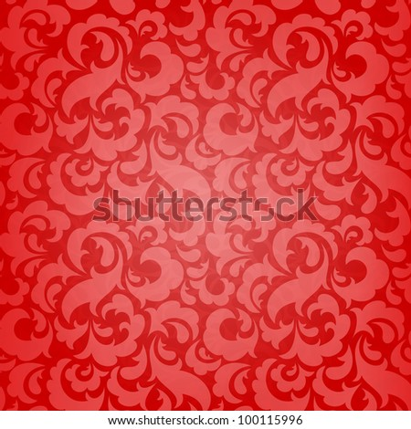 Red abstract seamless wallpaper for Christmas design. EPS 10 vector illustration. RGB. - stock vector