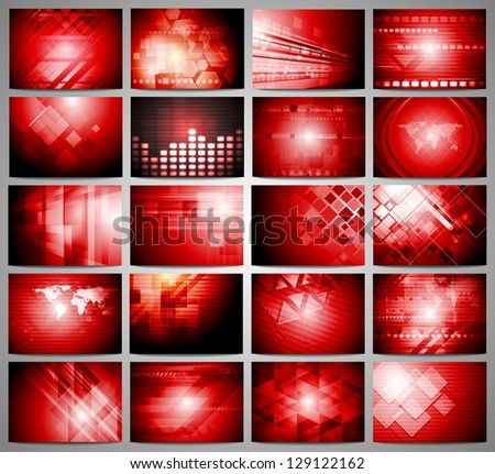 Red abstract technology design template. Vector background eps 10 - stock vector