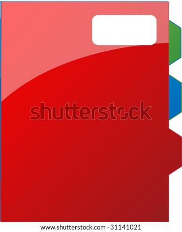 red agenda - stock vector