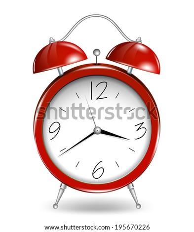 Red alarm clock. Vector - stock vector