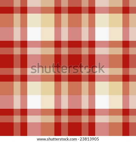 Red and beige seamless plaid pattern - stock vector
