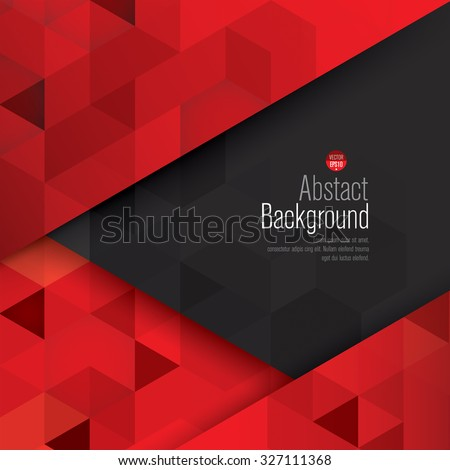 Red Black Abstract Background Vector Can Stock Vector 327111368 ...
