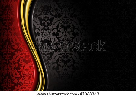 Red Black Luxury Background Stock Vector 47068363