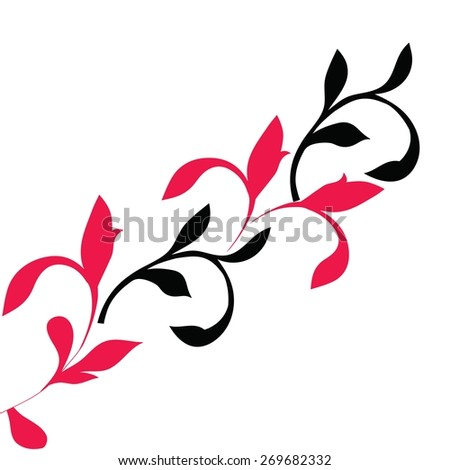 red and black pattern on a white background