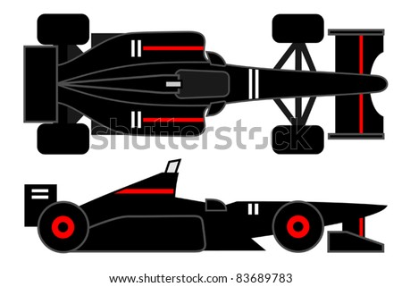Red and black racing car