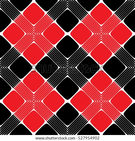 Red and Black Rectangle Seamless Pattern