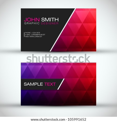 Red and Blue Modern Business - Card Set | EPS10 Vector Design - stock vector