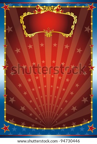 Red and blue show. A colored background for your entertainment