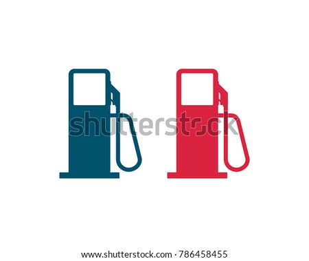 Red Blue Vector Gas Station Symbol Stock Photo Photo Vector