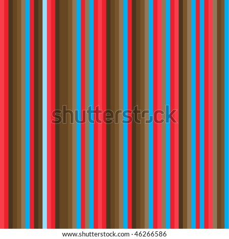 Red and brown stripes pattern - vector