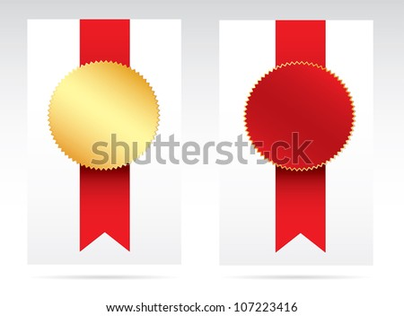 Red and gold award. Vector