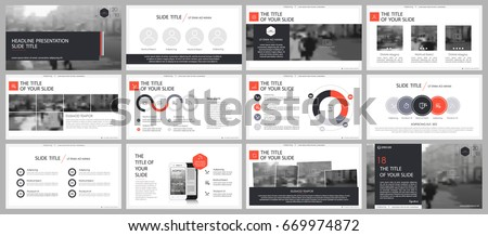 Red and gray elements for infographics on a white background. Presentation templates. Use in presentation, flyer and leaflet, corporate report, marketing, advertising, annual report, banner.