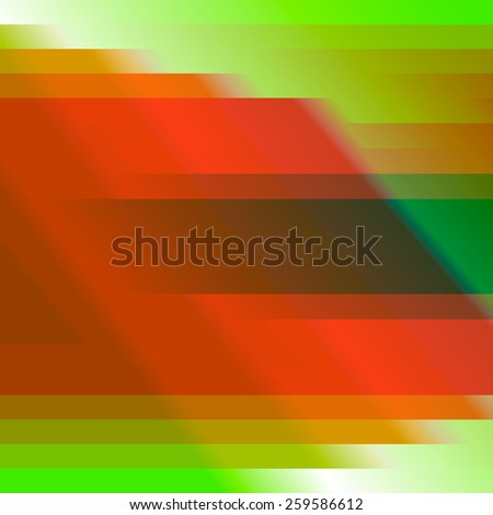 Red and green geometrical abstract  background made of lines and squares. Vector.