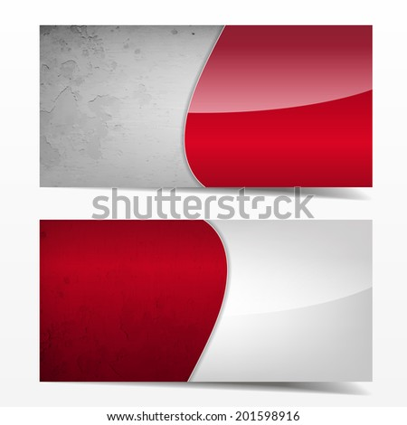 Red and grey grunge template. Great use for business cards, backgrounds or banners. (EPS10 Vector)