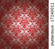 red and silver repeating wallpaper design with gradient effect - stock vector