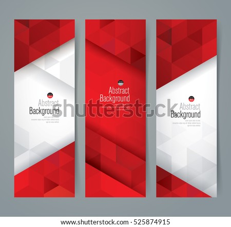 Red White Abstract Background Banner Collection Stock Vector ...