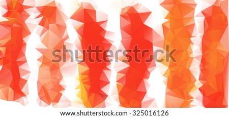 Red and White Polygonal Mosaic Background, Vector illustration, Creative Business Design Templates - stock vector
