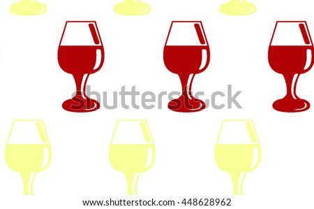 Red and white seamless wine pattern - stock vector