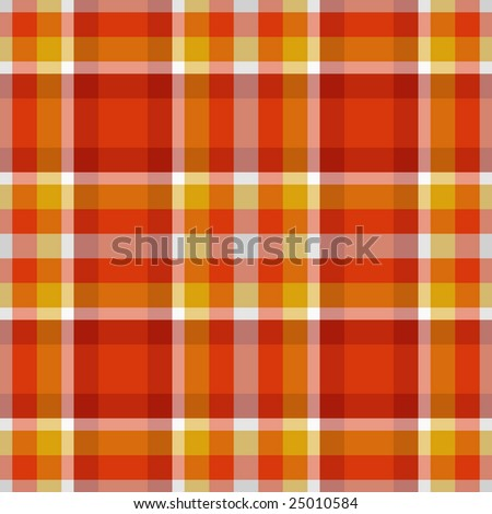 red and yellow seamless plaid - stock vector