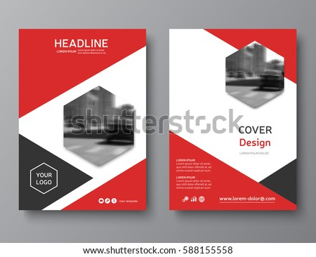 red annual report cover modern brochure design business brochure flyer corporate identity brochure