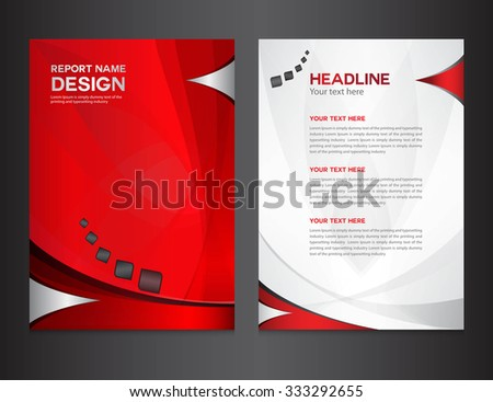 Red annual report design vector illustration stock vector for Instruction leaflet template