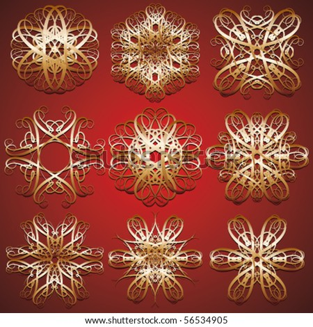 red antique - stock vector
