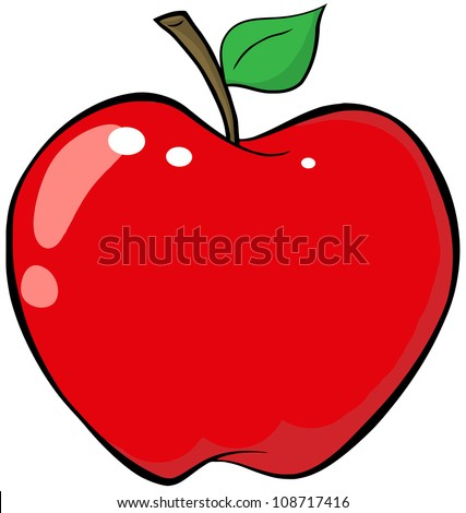 Red Apple .Vector Illustration