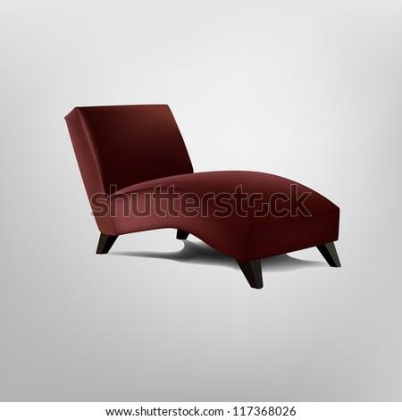 Red armchair - stock vector