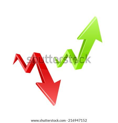 Red arrow. - stock vector