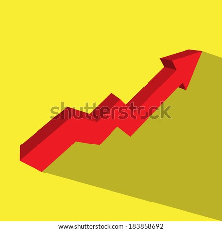 red arrow stock up vector