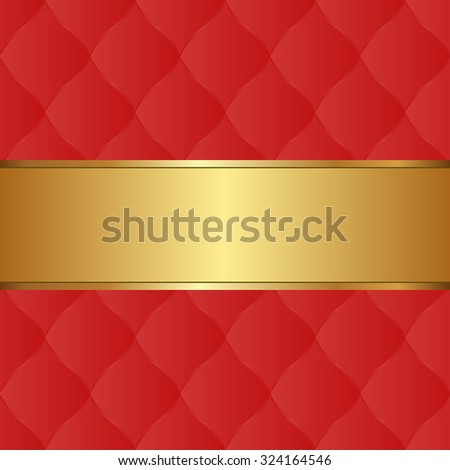 red background and golden tape - stock vector