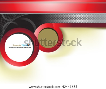 red background design - stock vector