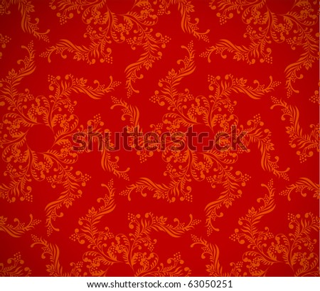 red background, floral christmas  seamless texture