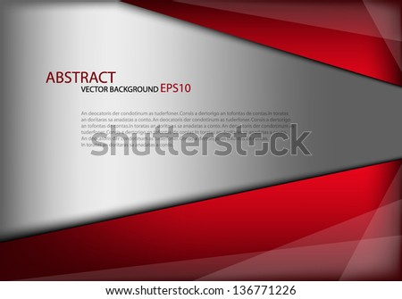 Red background vector message board for text and message design overlap dimension shadow graphic - stock vector